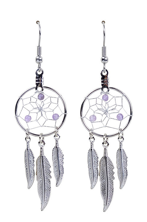 FEBRUARY - AMETHYST Birthstone DC Earrings