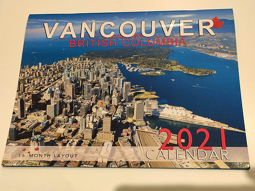 2021 Calendar Vancouver