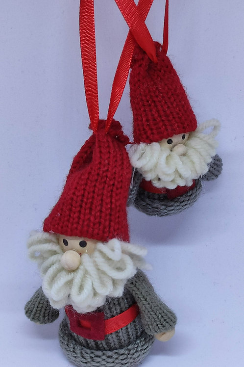 Wooly Santas Ornament