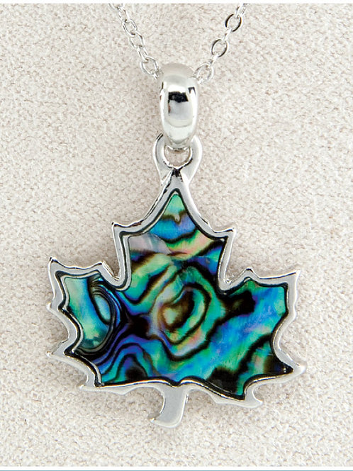 Glacier Pearl Maple Leaf Pendant
