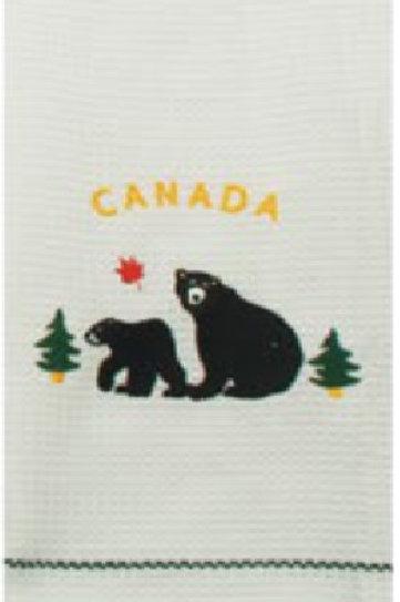 Black Bear Tea Towel