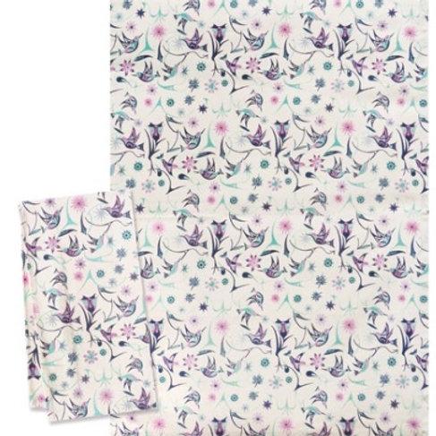 Printed Tea Towel - Hummingbirds