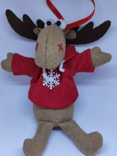 Moose w/ Hoody Ornament