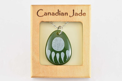 Jade Bear Paw Pendant