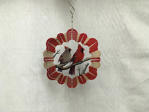 Red Cardinals Wind Spinner