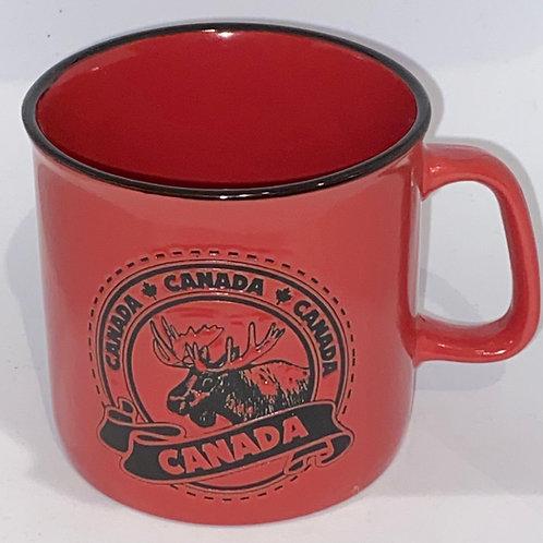 Moose & Leaf (Camp style) Coffee Mug
