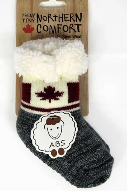"Infants ""Sherpa-Lined"" Canada Flag Socks"