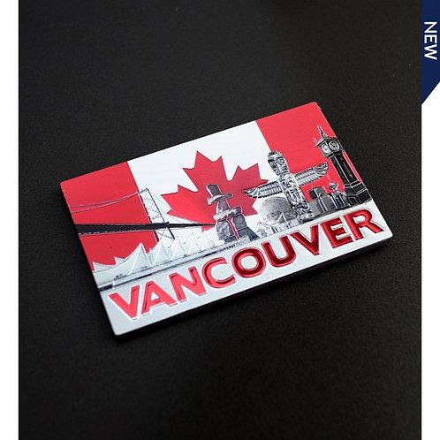 Canada Flag Backdrop w/City Magnet