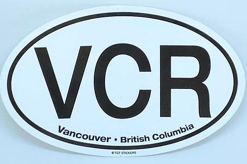 Oval Vancouver Sticker