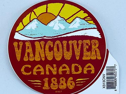 Flashback Mountain Sticker