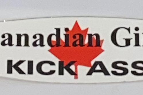 Canadian Girls Kicks Sticker