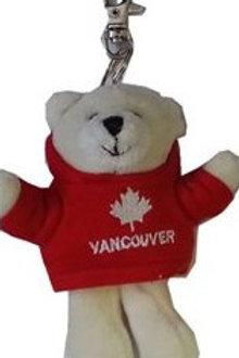 Plush Polar Bear Keychain w/ Van Hoody