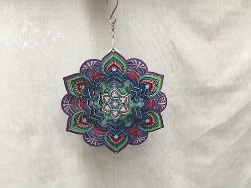 Purple Mandala Wind Spinner