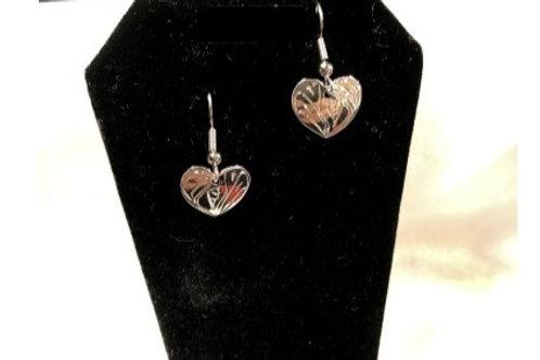 Humming Bird Heart Earrings