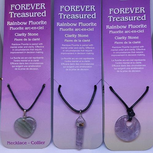 Rainbow Fluorite Pendants/Necklace