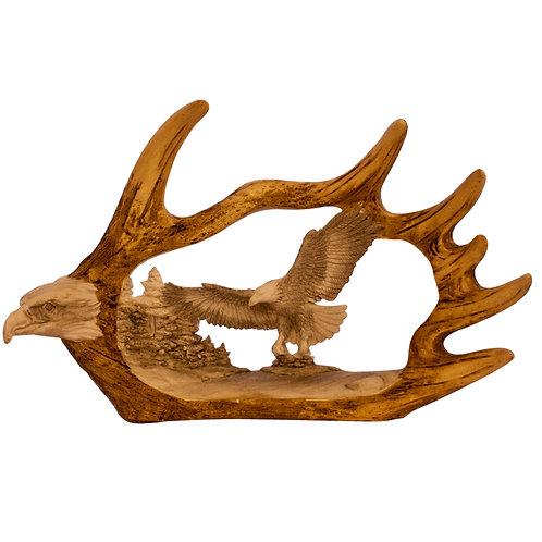Moose Antler w/ 2 Eagles