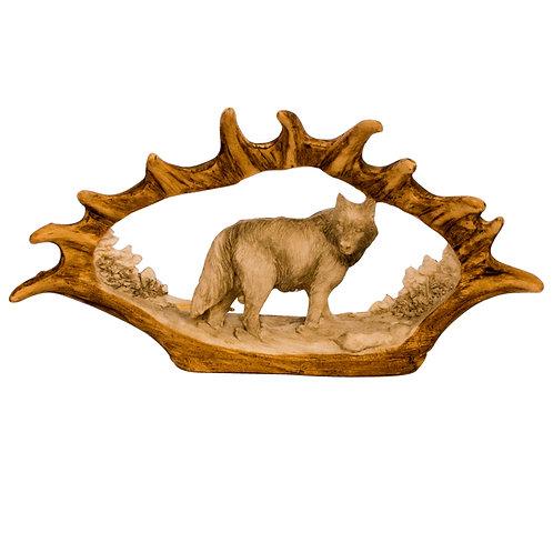 Moose Antler w/ Wolf