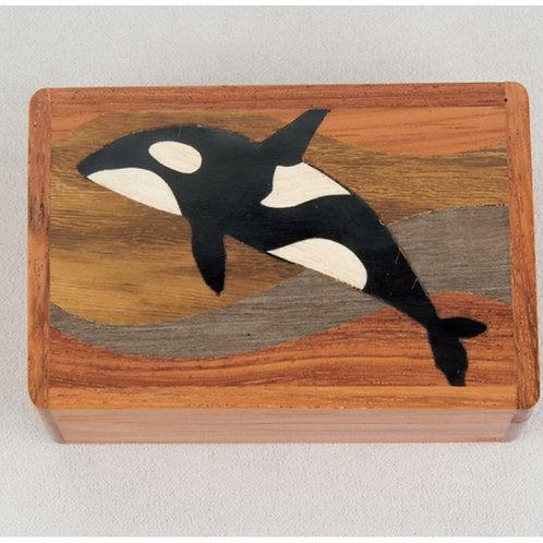 Killer Whale Wood Box - Northwoods