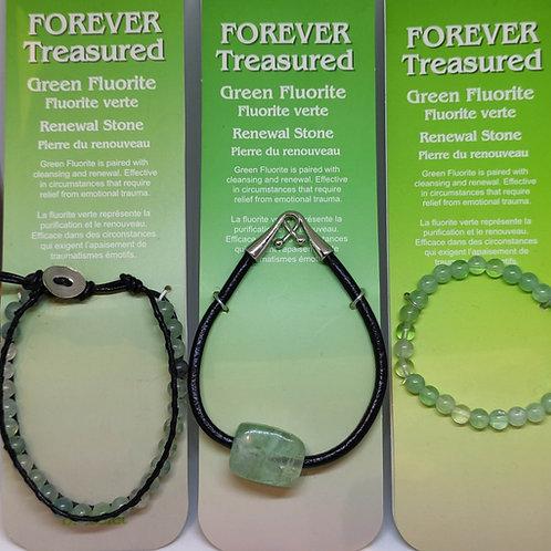 Green Fluorite Bracelets