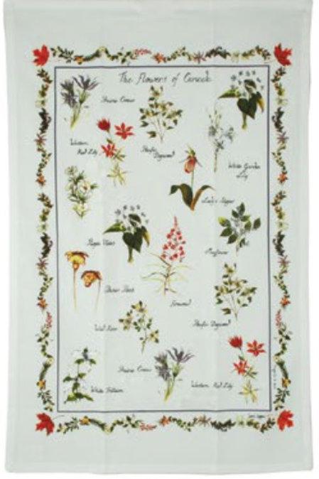Flowers of Canada Tea Towel