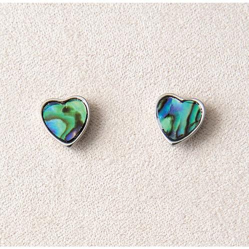 Glacier Pearl Framed Heart Earrings