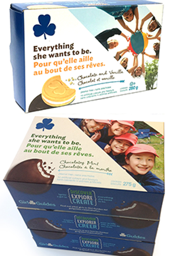 Girl Guide Mint Chocolate Cookies