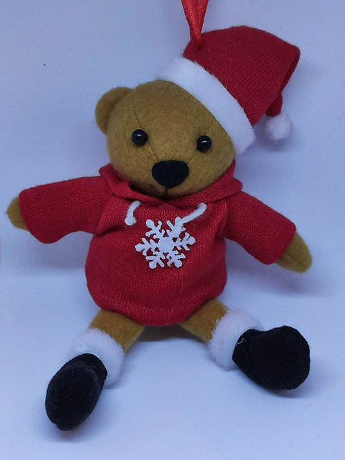 Bear w/ Hoody Ornament