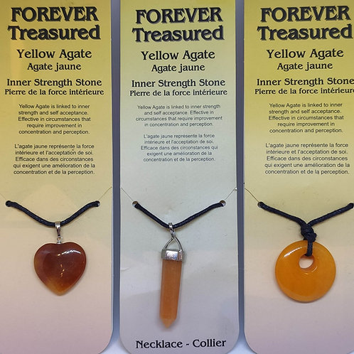 Yellow Agate Pendants/Necklace