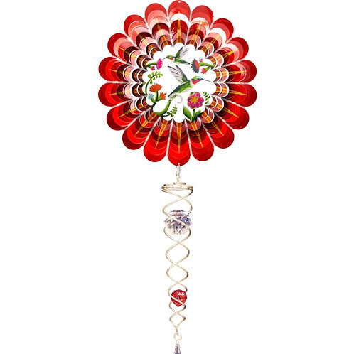 3D Red Dragonfly w/ Tail Wind Spinner