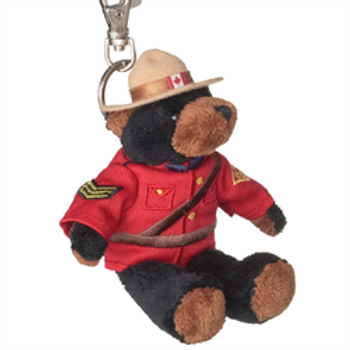 RCMP Black Bear Zipper Pull