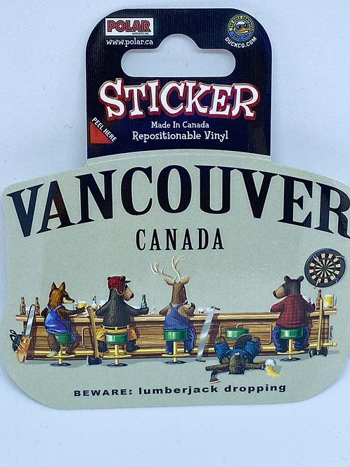 Lumberjack Falling Sticker