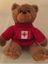 Brown Bear with Vancouver Sweater