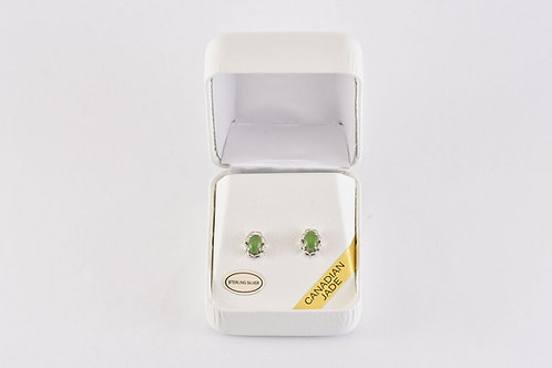 Jade w/ Silver Filagree Earrings