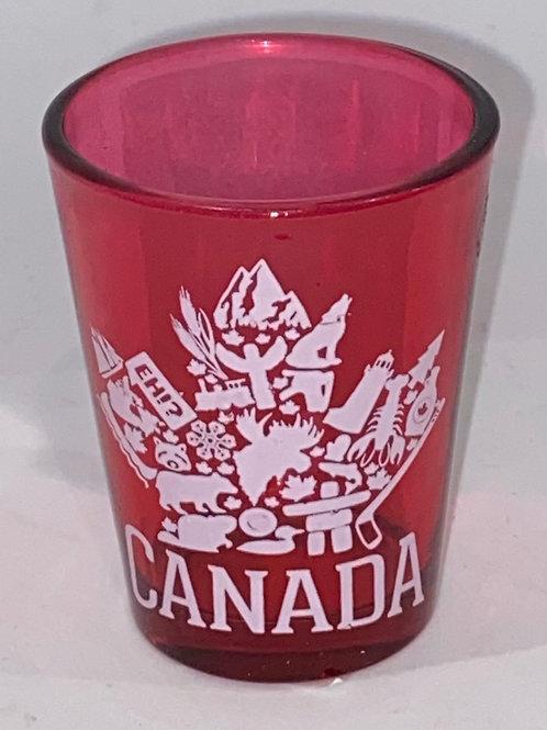 Iconic Maple Leaf Shot Glass