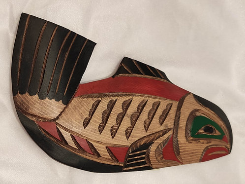 Salmon Wood Carving