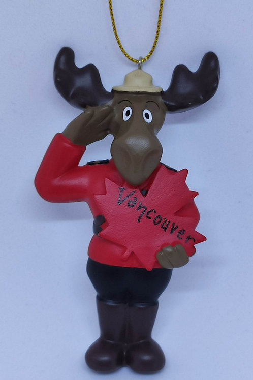 RCMP Moose Ornament