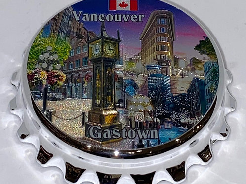Gastown (ABS) Bottle Opener Magnet