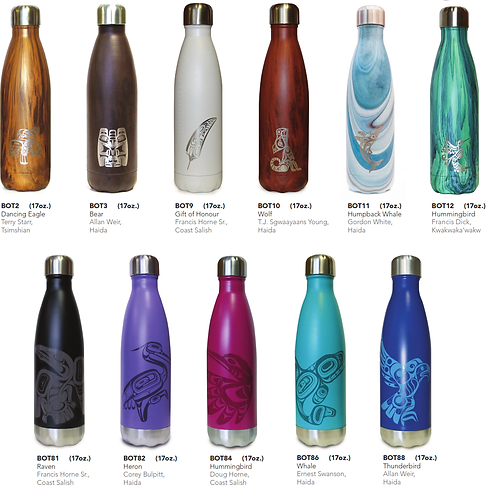 Insulated Water Bottle - 17 oz