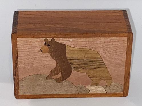 Black Bear Wood Box - Northwoods