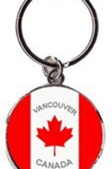Round Canada Flag Wavy w/ Vancouver