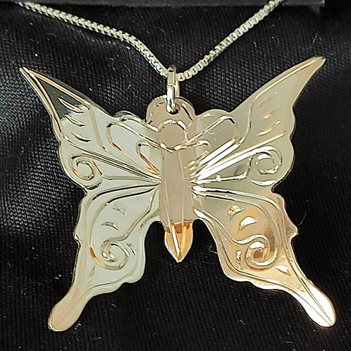 Butterfly Pendant with Chain