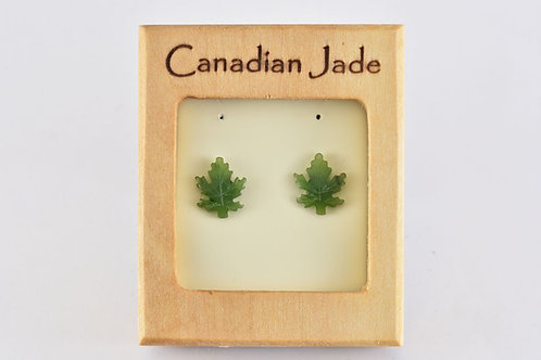 Jade Maple Leaf Earrings