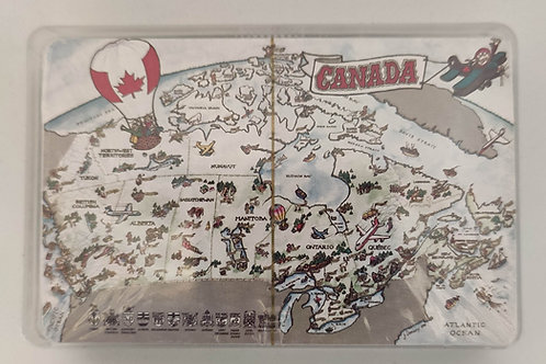 Cartoon Map of Canada Playing Cards