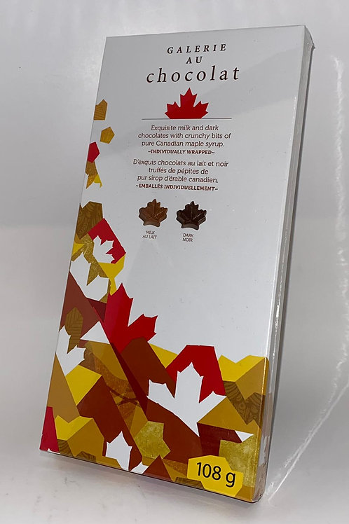 Chocolate Maple Leaves with Crunchy Maple Syrup Bits