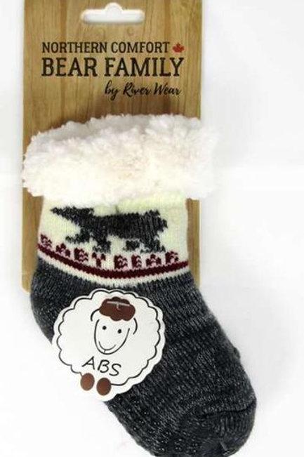 "Baby Bear ""Sherpa-Lined"" Socks"