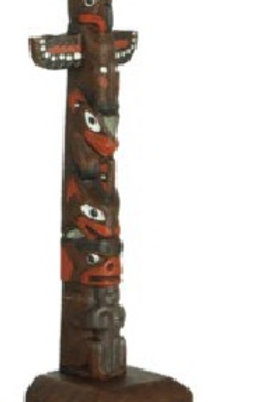 6 Inch Painted Totem