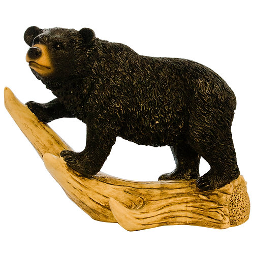 Black Bear Walking on Antler
