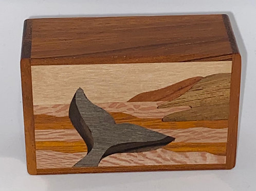 Whale Tail Wood Box - Northwoods
