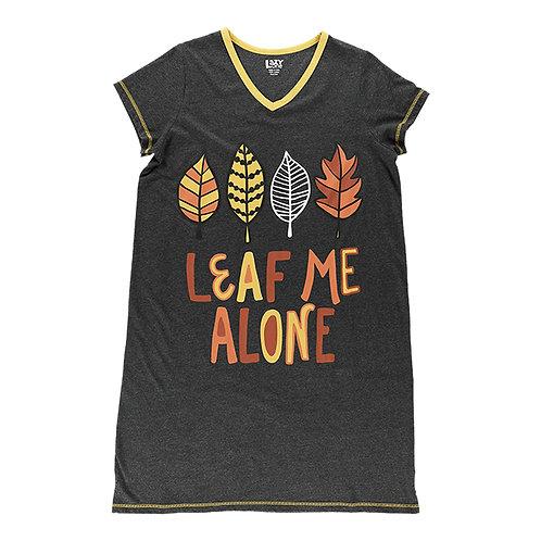 Sleep Shirt - Leaf Me Alone