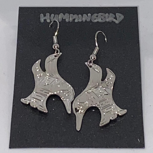 Cut Out Humming Bird Earrings